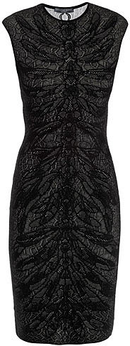 Alexander McQueen Spine lace jacquard knit dress