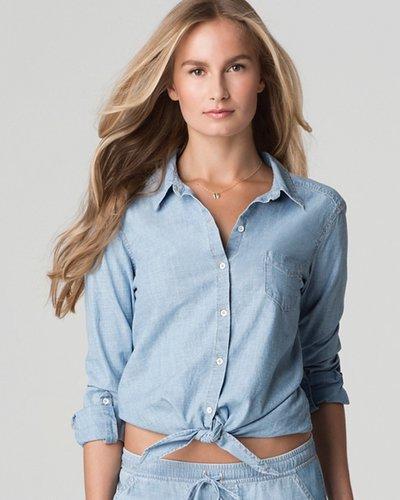 C&C California Shirt - Chambray Tie Front