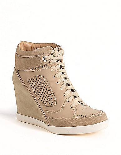 FRENCH CONNECTION Marla Hidden-Wedge Hi-Top Sneakers