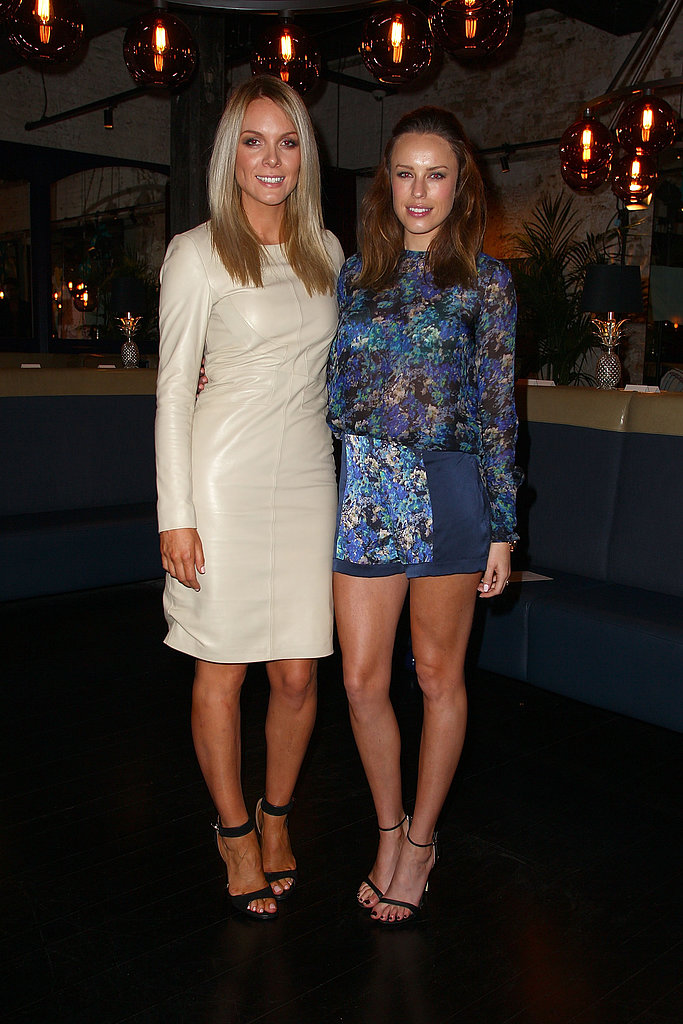 Designer Rebecca Vallance with Jessica McNamee.