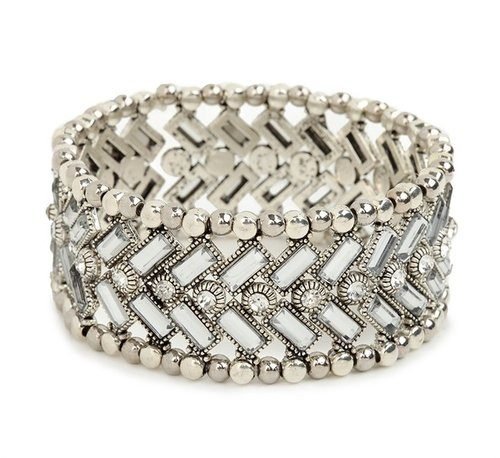 Ice Chevron Bead Cuff