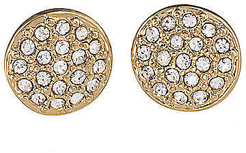 LAUREN RALPH LAUREN Gold-Tone Pave Crystal Stud Earrings