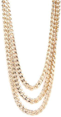 Gold Triple Curb Chain