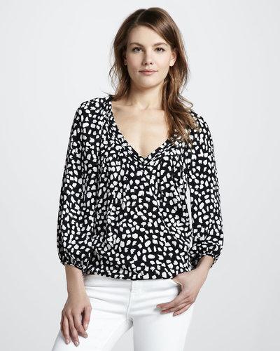 Diane von Furstenberg New Cahil Leopard-Print Top