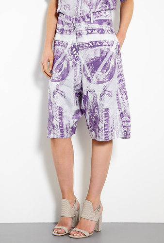 Acne Karma S Currency Print Long Shorts