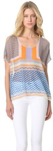 Clover canyon Chainmail Chiffon Top