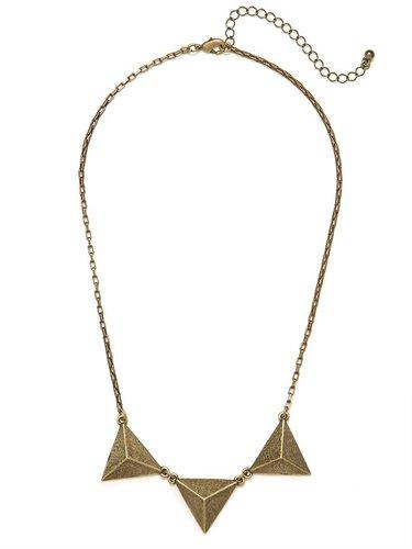 Gold Trio Triad Necklace
