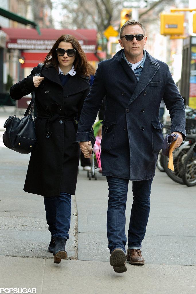 Rachel Weisz and Daniel Craig walked together in NYC.