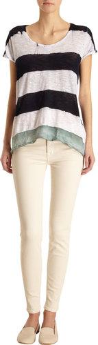 J Brand Brushed Stretch Denim Five Pocket Jeans