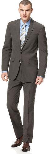 Kenneth Cole Reaction Suit, Brown Stripe Slim Fit