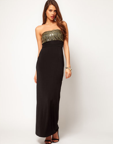 Lipsy Bandeau Maxi Dress with Embellishment