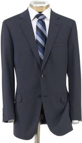Stays Cool 2-Button Suit with Pleated Front Trousers