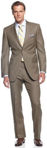 Jones New York Suit, Tan Sharkskin