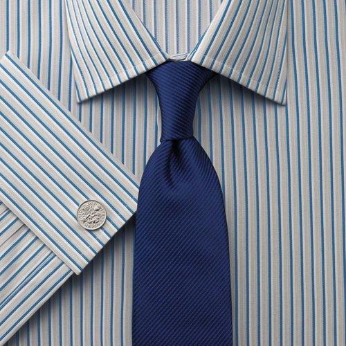 Hatfield grey with blue stripe extra slim fit shirt