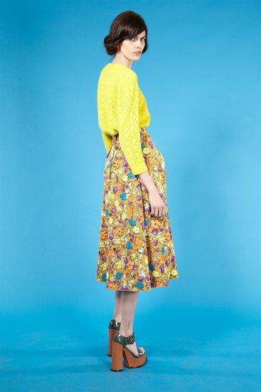 Floral Faille Circle Skirt