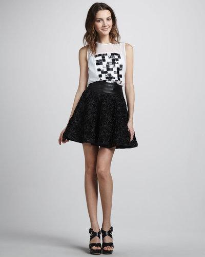 Milly Delphine Swing Skirt