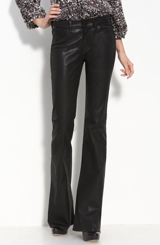 J Brand 'Babe' Coated Stretch Jeans (Black Wash)