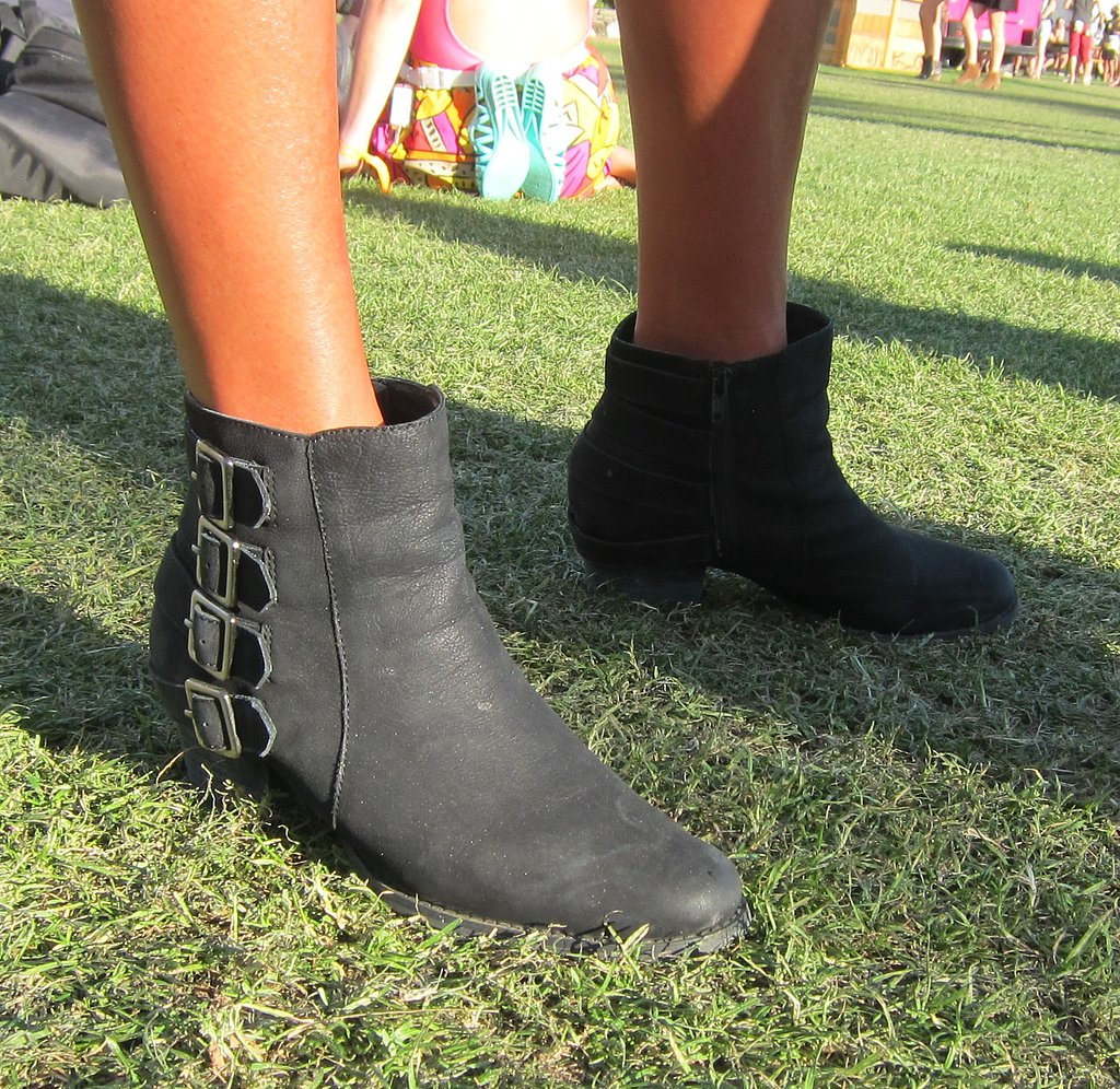 Black ankle booties go with just about everything. And who doesn't love a little hardware?