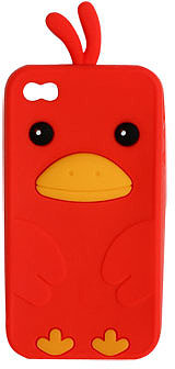 WetSeal Rubber Chicken Phone Case Red