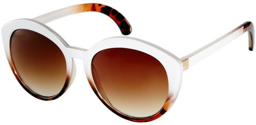 ASOS Highbrow Oversized Round Sunglasses With Mixed Frame