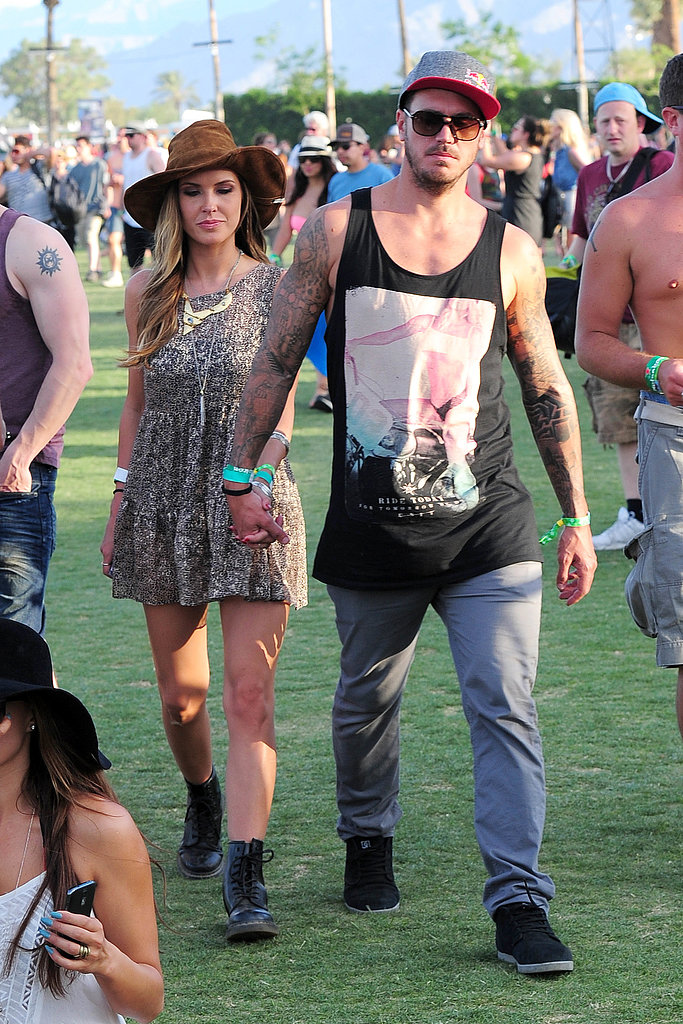Audrina Patridge and Corey Bohan held hands as they made their way around Coachella in 2013.