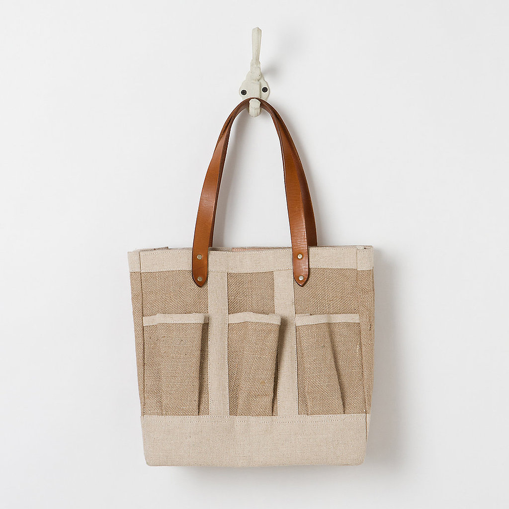 Jute and Leather Tote