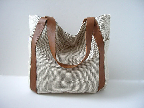 Slouchy Twill Tote
