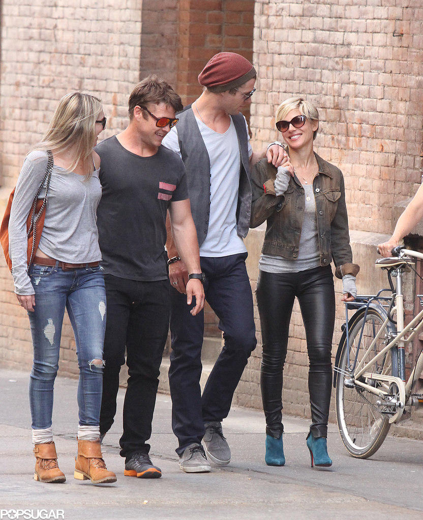 Chris Hemsworth hung out with his brother Luke.
