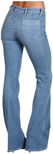 MiH Jeans - Marrakesh Mid-Rise Kick Flare in Baez (Baez) - Apparel