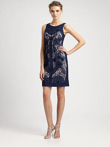 Sue Wong Soutache Lace Dress