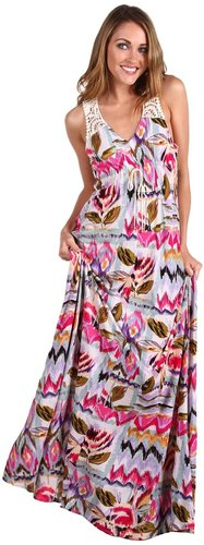 Buffalo David Bitton - Scenia Boho Chemise Maxi Dress (Botanical Print) - Apparel