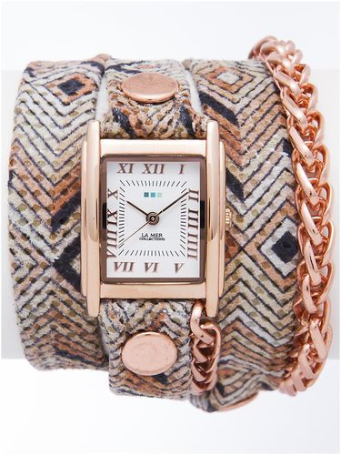 La Mer Collections Aztec Chain Wrap