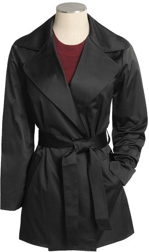 Joan Vass Cotton-Rich Trench Coat - Wrap (For Women)