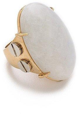 Kelly wearstler Oval Moonstone Cocktail Ring
