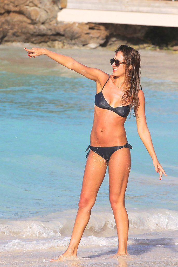 Jessica Alba showed off her bikini body in St. Bart's in April 2013.