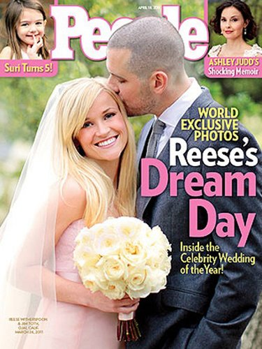 Reese Witherspoon and Jim Toth tied the knot at her ranch in Ojai, CA, in March 2011.