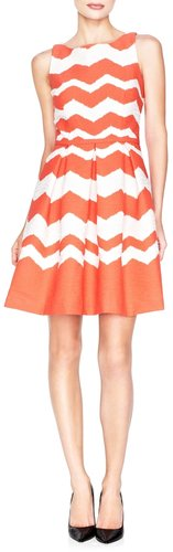 Chevron-Striped Dress