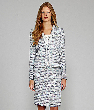Tahari Boucle 2-Piece Skirt Suit