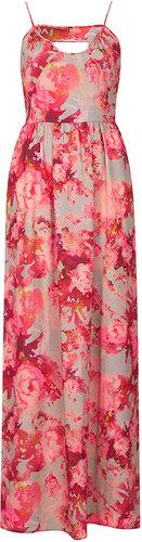 Blur Floral Maxi Dress