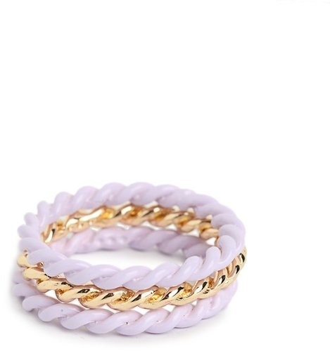 Lilac Twist Ring Trio