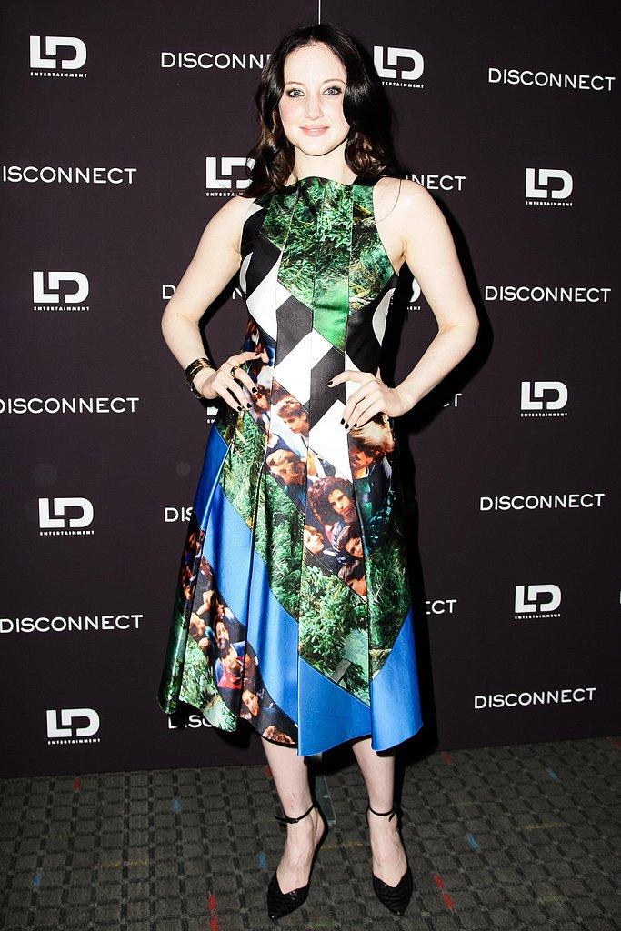 Andrea Riseborough wore Spring 2013 Proenza Schouler at the Disconnect screening in New York. Photo: Matteo Prandoni/BFAnyc.com