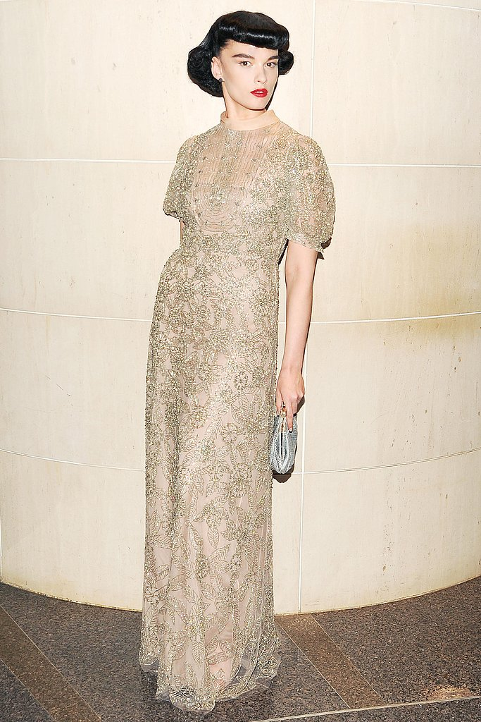 Crystal Renn wore Valentino at the New Yorkers For Children 10th Anniversary Spring Dinner Dance in New York. Photo: Billy Farrell/BFAnyc.com