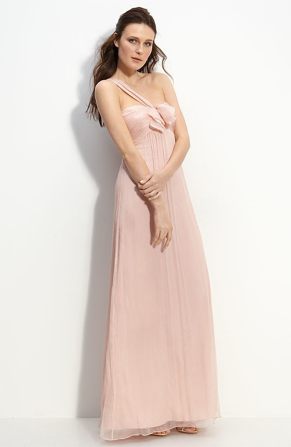 Amsale Bow-Front Gown