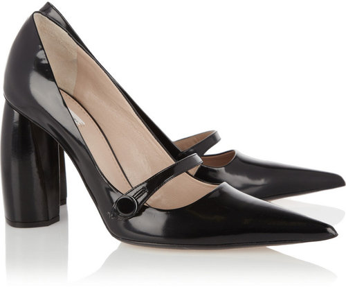 Marc Jacobs Glossed-leather Mary Jane pumps