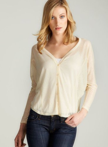 Costa Blanca Button Down Slub Top, Off White