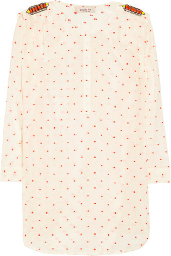Paul & Joe Bria crystal-embellished cotton-blend blouse