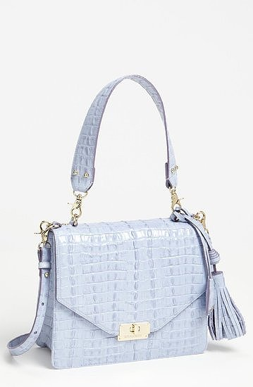 Brahmin blue croc-embossed bag ($325)