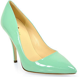 Kate Spade - Licorice - Pump in Seafoam Patent Leather