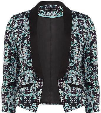 Aqua geo print jacket