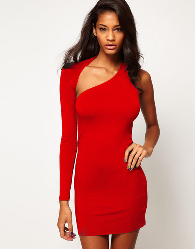 ASOS Mini Body-Conscious Dress With One Sleeve